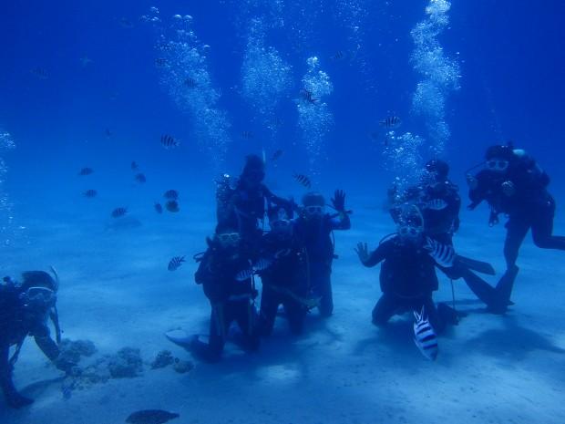 タイミング良く、最高の天気・海況に恵まれ、ケラマ諸島にある「座間味島」の海へ。のイメージ