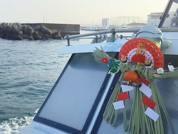 沖縄の潜り初め& 餅つきと初詣 2016
