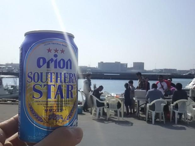 陽射しとビール