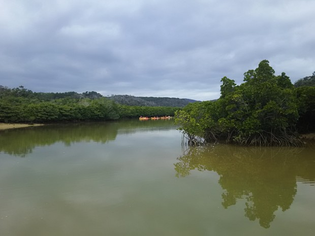 沖縄で水遊び 河口の眺めもお勧めです!